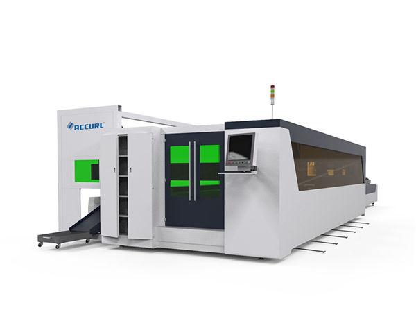 metal tube ug plate fiber high speed laser cutting machine 1500w nga adunay rotary device