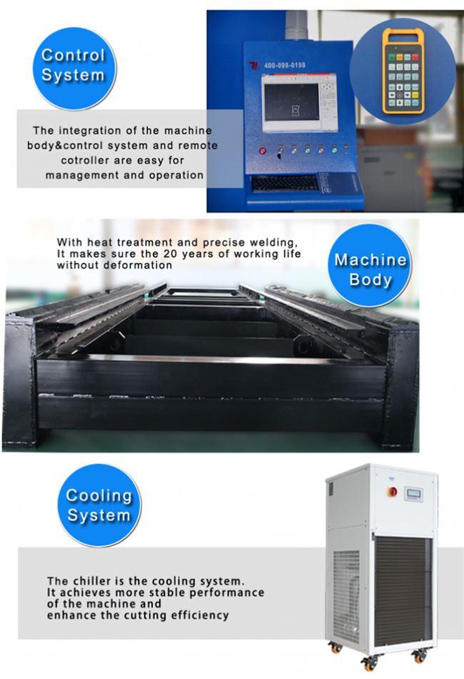 1500w fiber laser sheet metal cutting machine