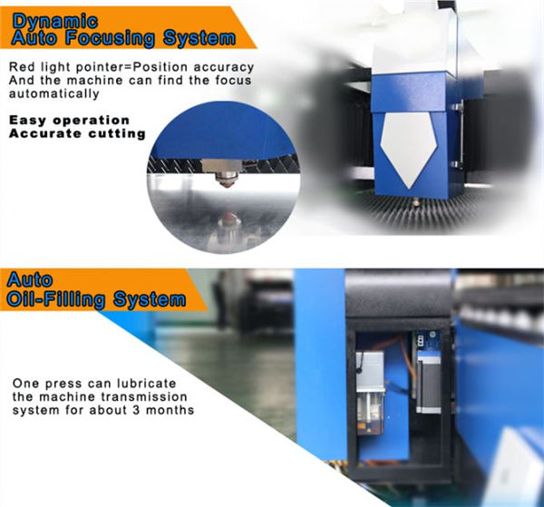 carbon steel fiber laser pagputol machine pagpabalik katukma