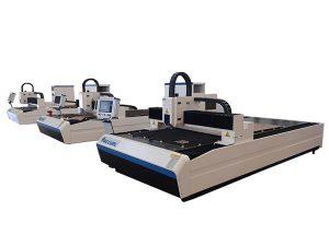 taas nga precision fiber laser cutting machine dual linear motor alang sa metal plate