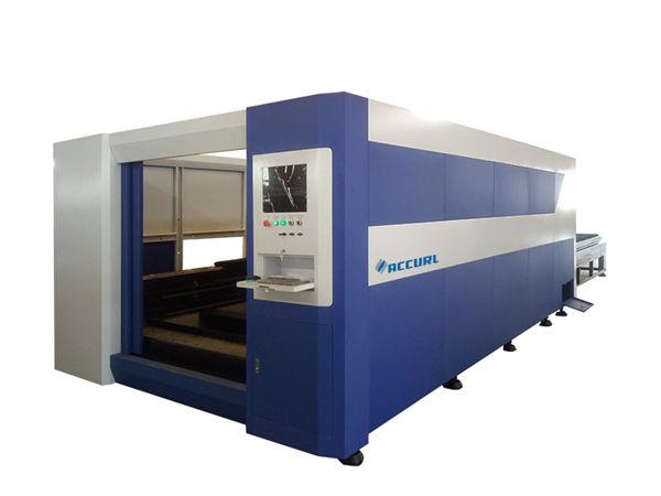 380v / 50hz laser steel cutting machine, smart fiber optic laser cutter