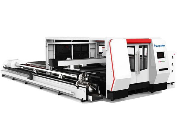 rotary device fiber laser metal cutting machine