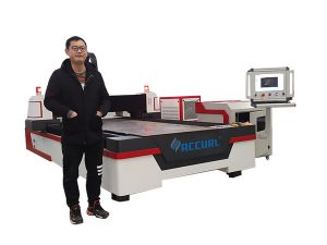 linear guide drive cnc laser pipe cutting machine alang sa tumbaga / titanium