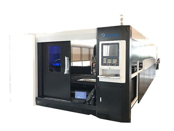 3000w fiber cnc laser metal cutting machine gantry doble nga istruktura sa pagmaneho