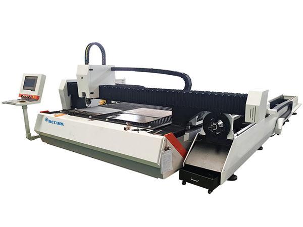 1000w tube metal fiber laser cutting machine adjustable speed