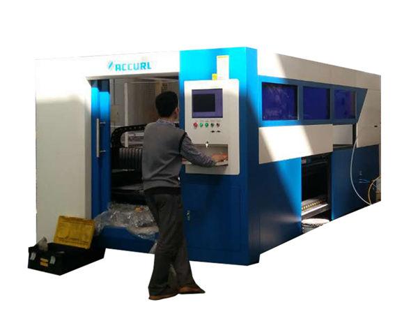 2kw fiber optic laser cutting machine adjustable nga tulin alang sa metal tube